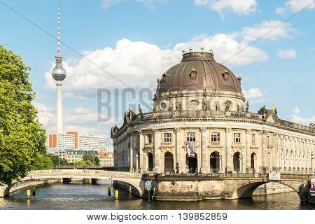 The Bode Museum on the Museum island in Berlin, Germany.
