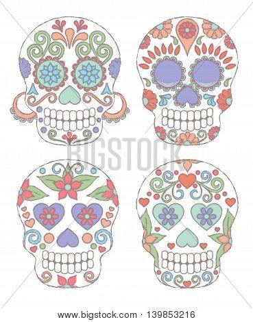 Watercolor Skulls1.eps