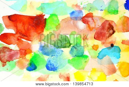 Vivid variegated abstract watercolor background