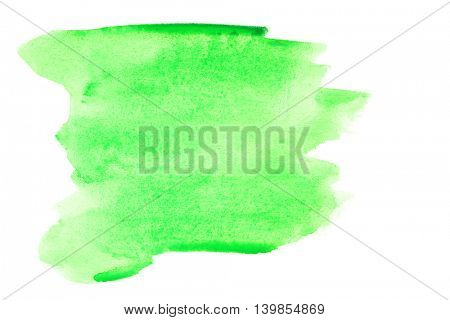Green watercolor brush strokes - background or space for your own text