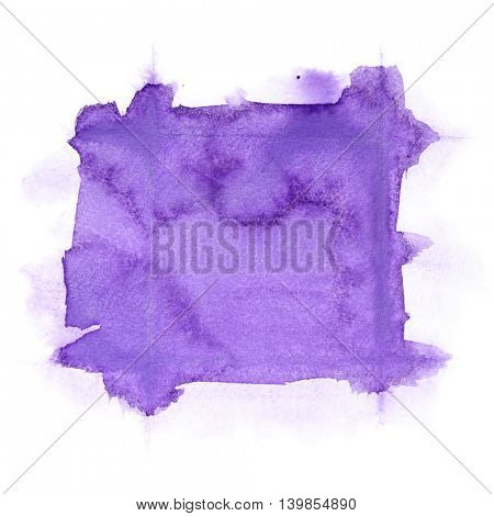 Violet abstract watercolor background