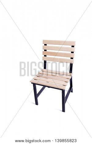 Garden kitchen chair isolated on white background