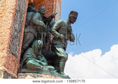 The Republic Monument On Taksim Square, Istanbul