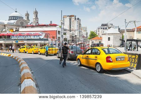 Taxi Drivers Are On Taksim Square