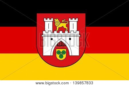 Flag of Hanover on the River Leine is the capital of the federal state of Lower Saxony (Niedersachsen) Germany