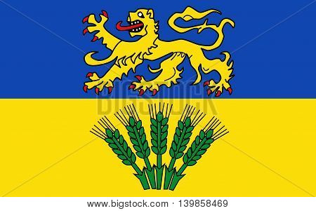 Flag of Wolfenbuttel is a district in southeastern Lower Saxony Germany
