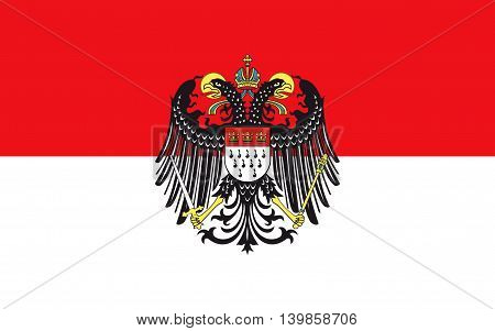 Flag of Cologne is the largest city in the German federal State of North Rhine-Westphalia Germany