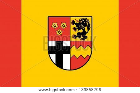 Flag of Euskirchen is a district in the south-west of North Rhine-Westphalia Germany