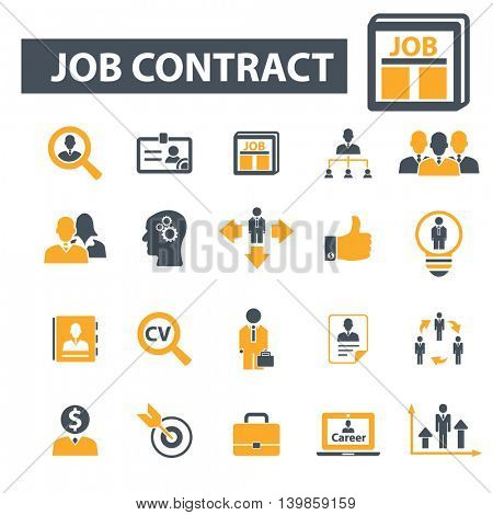 job contract icons