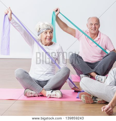 Elderly People Do Physical Exercises