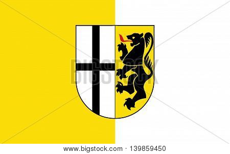 Flag of Neuss is a district in the west of North Rhine-Westphalia Germany
