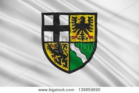 Flag of Ahrweiler is a district in the north of Rhineland-Palatinate Germany. 3d illustration