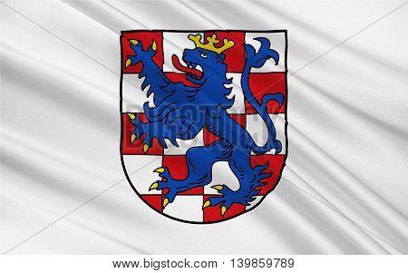 Flag of Birkenfeld is a district (Landkreis) in Rhineland-Palatinate Germany. 3d illustration