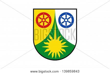 Flag of Donnersbergkreis is a district (Kreis) in the middle of Rhineland-Palatinate Germany
