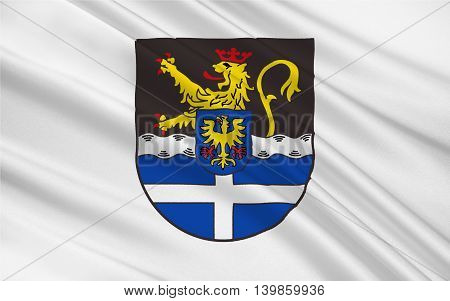 Flag of Germersheim is a district (Kreis) in the south-east of Rhineland-Palatinate Germany. 3d illustration