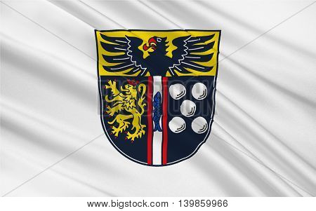 Flag of Kaiserslautern is a district (Kreis) in the south of Rhineland-Palatinate Germany. 3d illustration