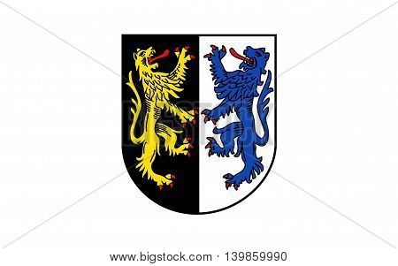 Flag of Kusel is a district (Kreis) in the south of Rhineland-Palatinate Germany