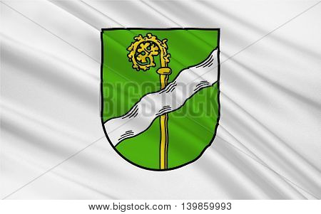 Flag of Kusel is a town in the Kusel district in Rhineland-Palatinate Germany. 3d illustration