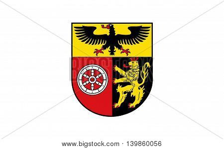 Flag of Mainz-Bingen is a district (Kreis) in the east of Rhineland-Palatinate Germany