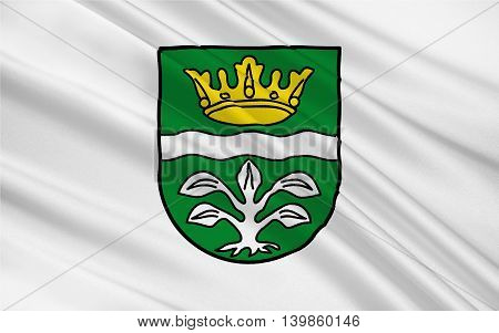 Flag of Mayen-Koblenz is a district (Kreis) in the north of Rhineland-Palatinate Germany. 3d illustration
