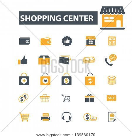 shopping center icons