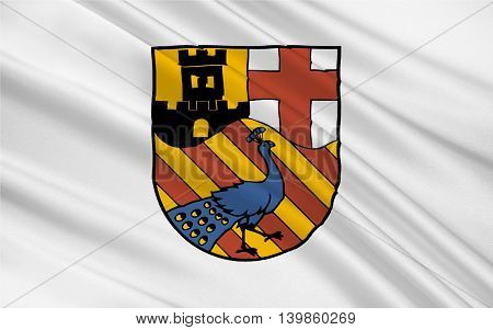 Flag of Neuwied is a town in the north of the German state of Rhineland-Palatinate capital of the District of Neuwied. 3d illustration