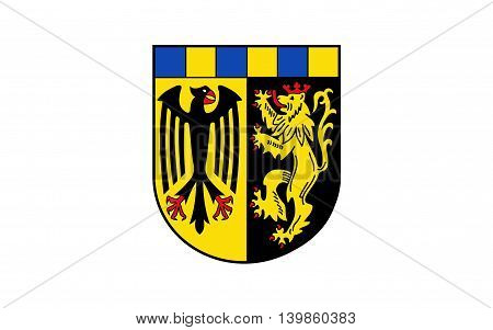 Flag of Rhein-Hunsruck-Kreis is a district (Kreis) in the middle of Rhineland-Palatinate Germany