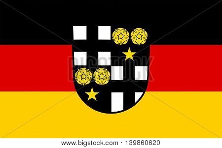 Flag of Beckingen is a municipality in the district Merzig-Wadern in Saarland Germany