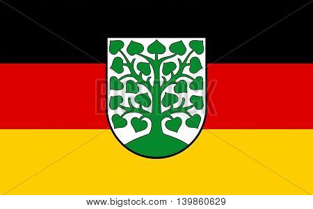 Flag of Homburg is a town in Saarland Germany
