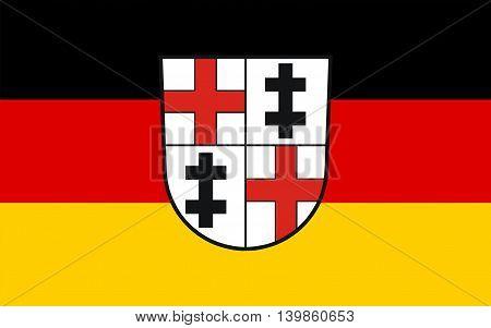 Flag of Merzig is the capital of the district Merzig-Wadern in Saarland Germany