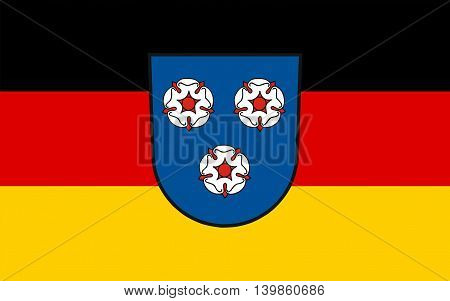 Flag of Mettlach is a municipality in the district Merzig-Wadern in Saarland Germany