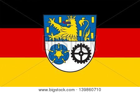 Flag of Neunkirchen is a Kreis (district) in the middle of the Saarland Germany