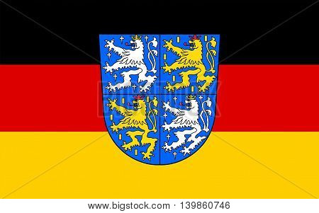 Flag of Regionalverband Saarbrucken is a district (Kreis) and town in the south of the Saarland Germany