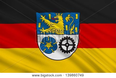Flag of Neunkirchen is a Kreis (district) in the middle of the Saarland Germany. 3d illustration