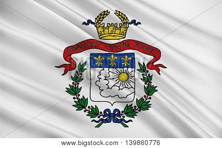 Flag of Saarlouis is a city in the Saarland Germany capital of the district of Saarlouis. 3d illustration