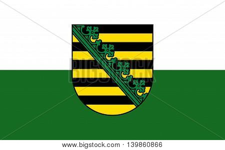 Flag of Free State of Saxony of the federal state of Germany