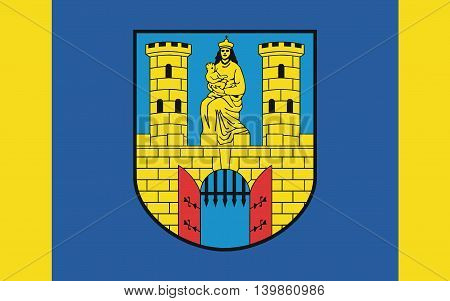 Flag of Burg bei Magdeburg is a town in Saxony-Anhalt Germany