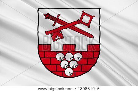 Flag of Burgenlandkreis is a district in Saxony-Anhalt Germany. 3d illustration