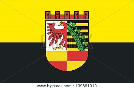 Flag of Dessau in Saxony-Anhalt of Germany