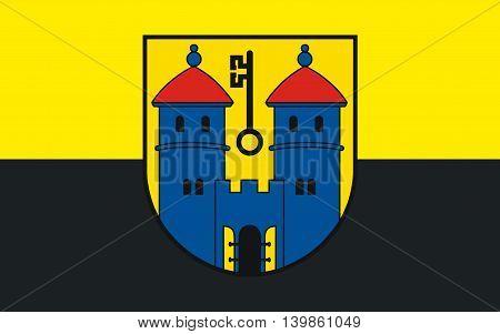 Flag of Haldensleben is a town in Saxony-Anhalt Germany