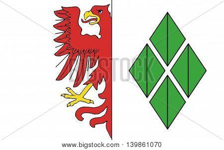 Flag of Hansestadt Stendal is a town in Saxony-Anhalt Germany