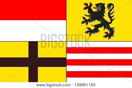 Flag of Saalekreis is a district in Saxony-Anhalt Germany