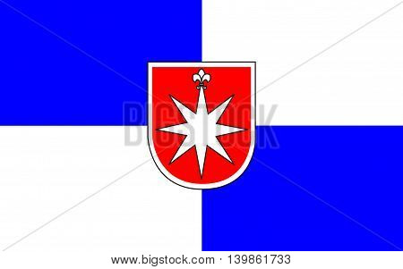 Flag of Norderstedt is a city in Schleswig-Holstein Germany
