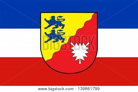 Flag of Rendsburg-Eckernforde is a district in Schleswig-Holstein Germany