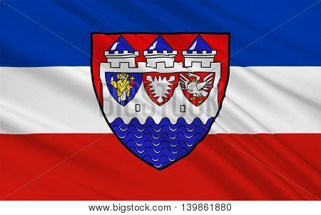 Flag of Steinburg is a district in Schleswig-Holstein Germany. 3d illustration