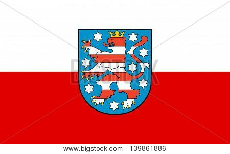 Flag of Thuringia is a federal state of Germany