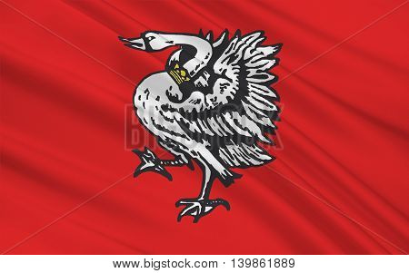 Flag of Stormarn is a district in Schleswig-Holstein Germany. 3d illustration