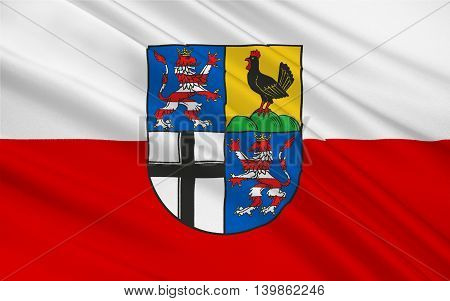 Flag of Wartburgkreis is a Kreis (district) in the west of Thuringia Germany. 3d illustration