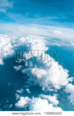 Sky from a Plane Clean Air