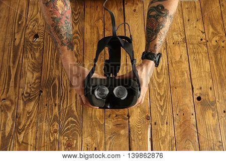 Vr Controller And Glasses Presentation